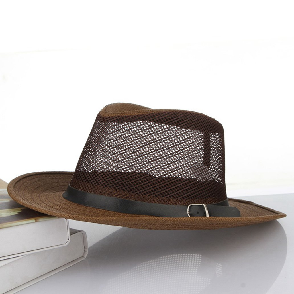 Mens Summer Sun Hats Mesh Breathable Beach Outdoor Sun Hat Church Cap