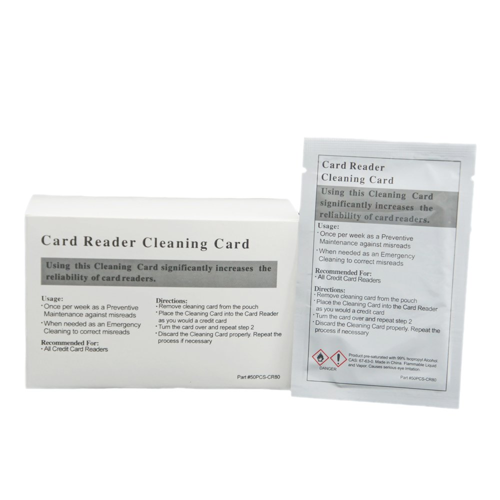50pk Presaturated Swipe Head Cleaning Cards (Dual Side) by Gorilla Supply