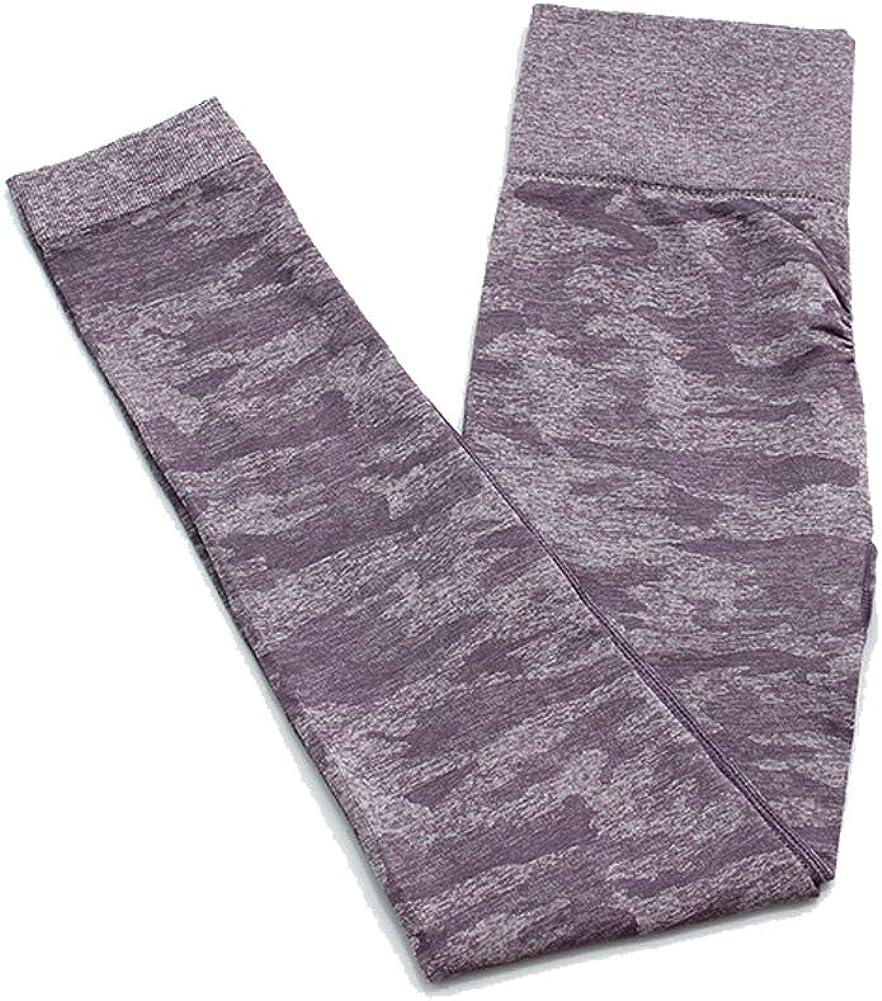 SotRong Pantalones de Yoga de Camuflaje para Mujer Legging de Gimnasio de Cintura Alta Control de Barriga Entrenamiento Running Legging