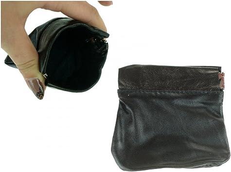 Porte Monnaie Clic Clac Simili Cuir Souple Noir Amazon Fr