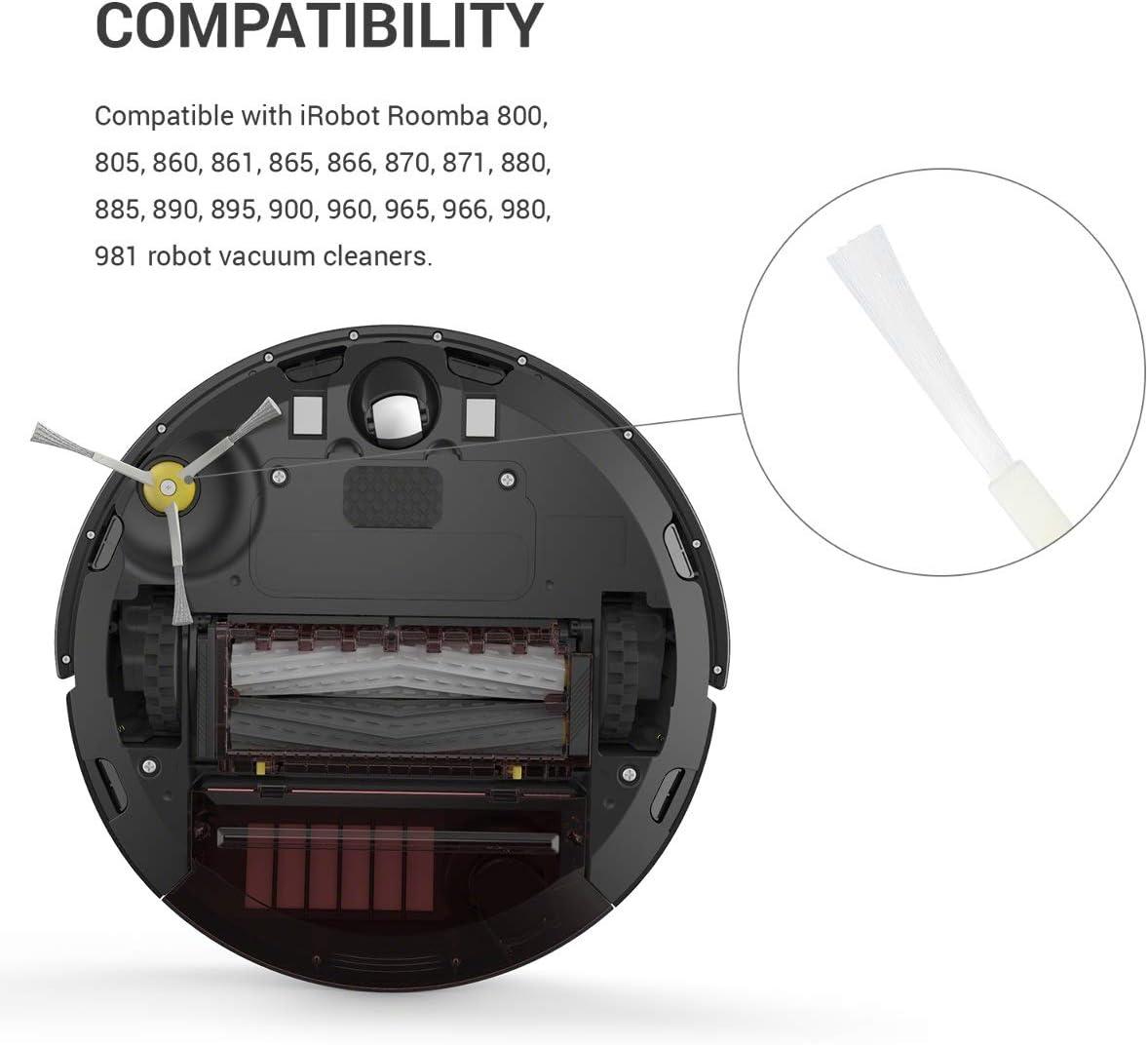 kwmobile Set de 3 cepillos Laterales de Repuesto compatibles con ...
