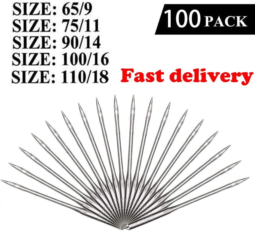 90//14 75//11 Universal Regular Point for Singer 110//18 by HOWRIN Sizes HAX1 65//9 Brother 100//16 100 Count Sewing Machine Needles Varmax Janome