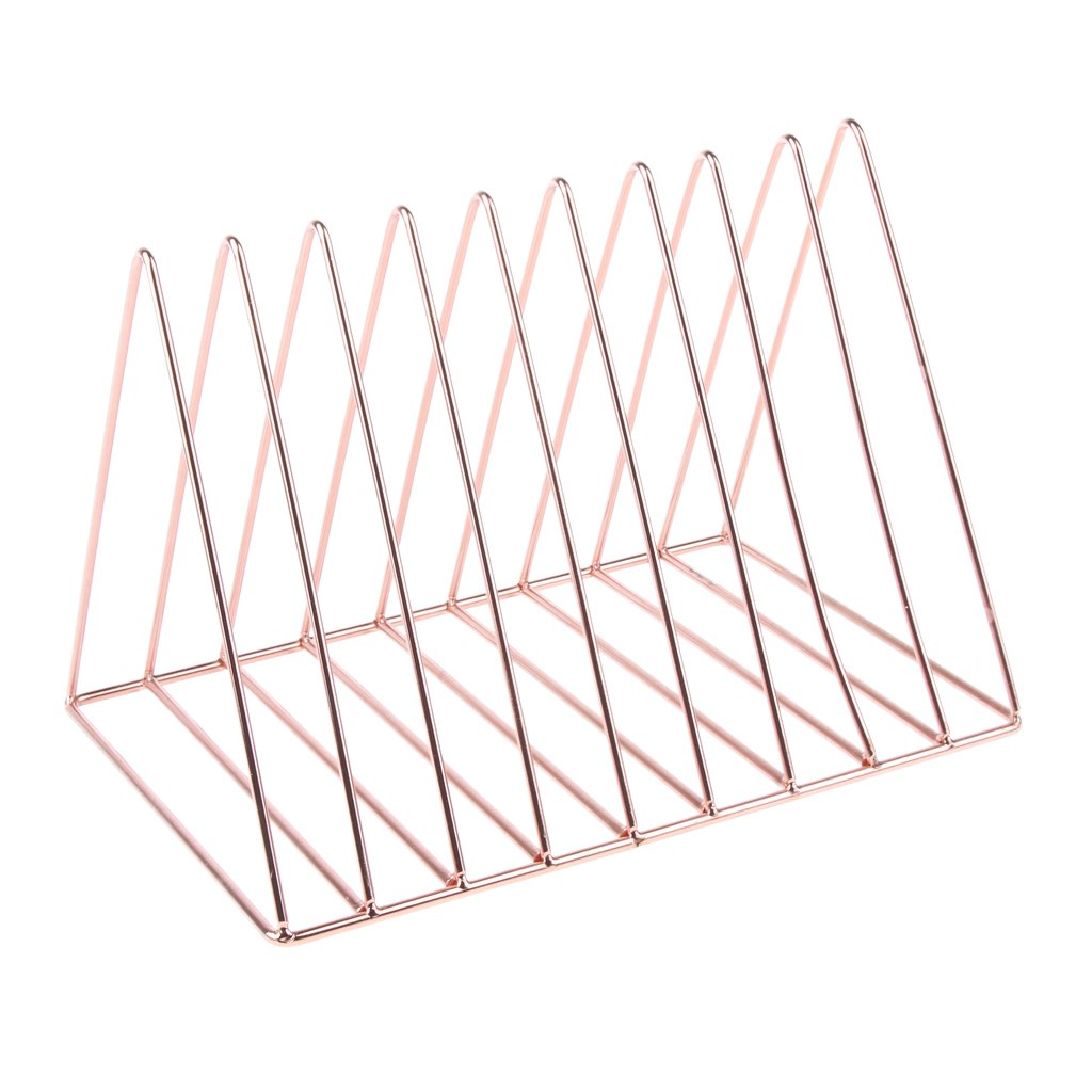 Prettyia Simple Stylish Metal Desktop Bookshelf, Book Stand Rack, Book Holder, Rose Gold by Prettyia (Image #1)