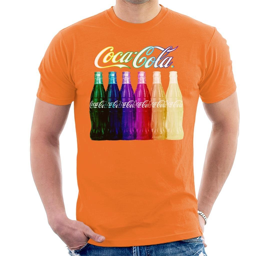Coca Cola Rainbow Multi Bottles Mens T-Shirt