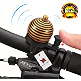 VECOO Mini Bicycle Bell and Horns for adults Vintage Round Handlebar Mount with Copper Cover Safety Warning Bike Bells