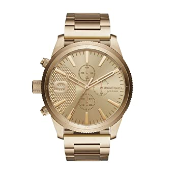 f5c59ec9f07d Amazon.com  Diesel Men s Quartz Watch with Stainless-Steel Strap ...