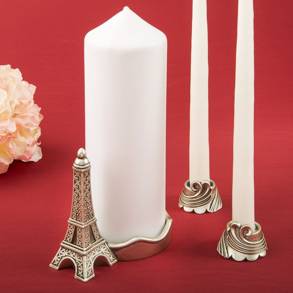 FASHIONCRAFT Paris/Eiffel Tower Themed Unity Candle Set from