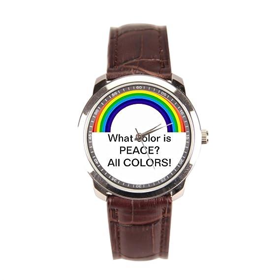 Barato Relojes colores de motivación hombres de acero inoxidable reloj de pulsera: Amazon.es: Relojes