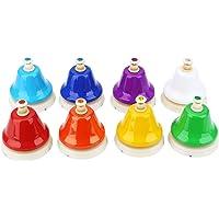 Mini campanas de mano de 8 notas, campanas de mano de colores, percusión para niños pequeños, juguetes musicales o…