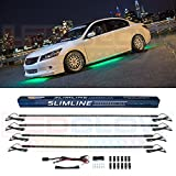 LEDGlow 4pc Green Slimline LED Underbody Underglow Car Light Kit - Water Resistant - Wide Angle SMD LEDs