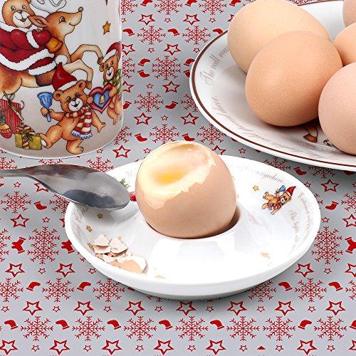 Hoomeet Porcelain Dinnerware ... & Hoomeet Porcelain Dinnerware Set 4-Piece Christmas Bear Tableware ...