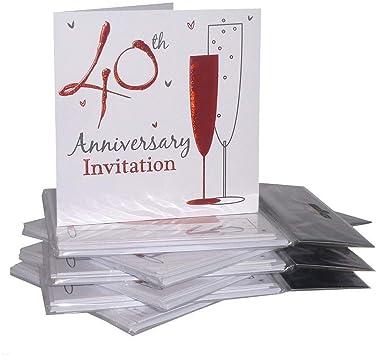 3 x Wedding Anniversary Party Invitations