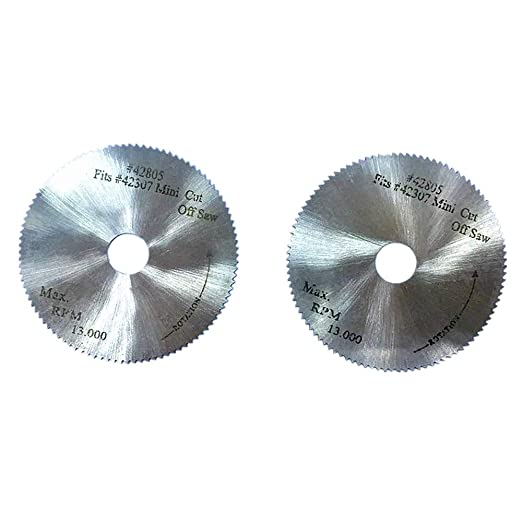 ABEST 2 piezas 50 x 0,4 mm 100 Z; HSS hoja de sierra circular para ...