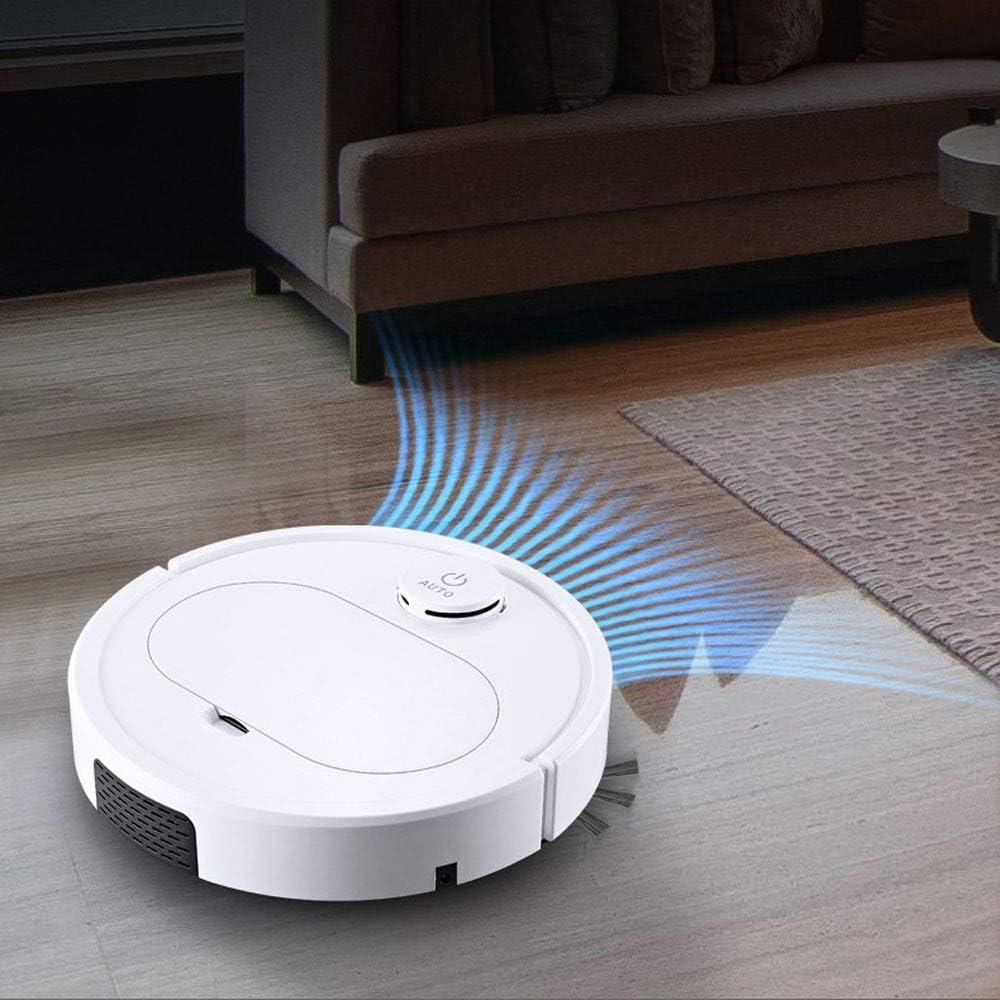 Thumby Robot de Balayage, Machine de Nettoyage Domestique Paresseux, Gros Cadeau, aspirateur Intelligent jianyu (Color : White) White