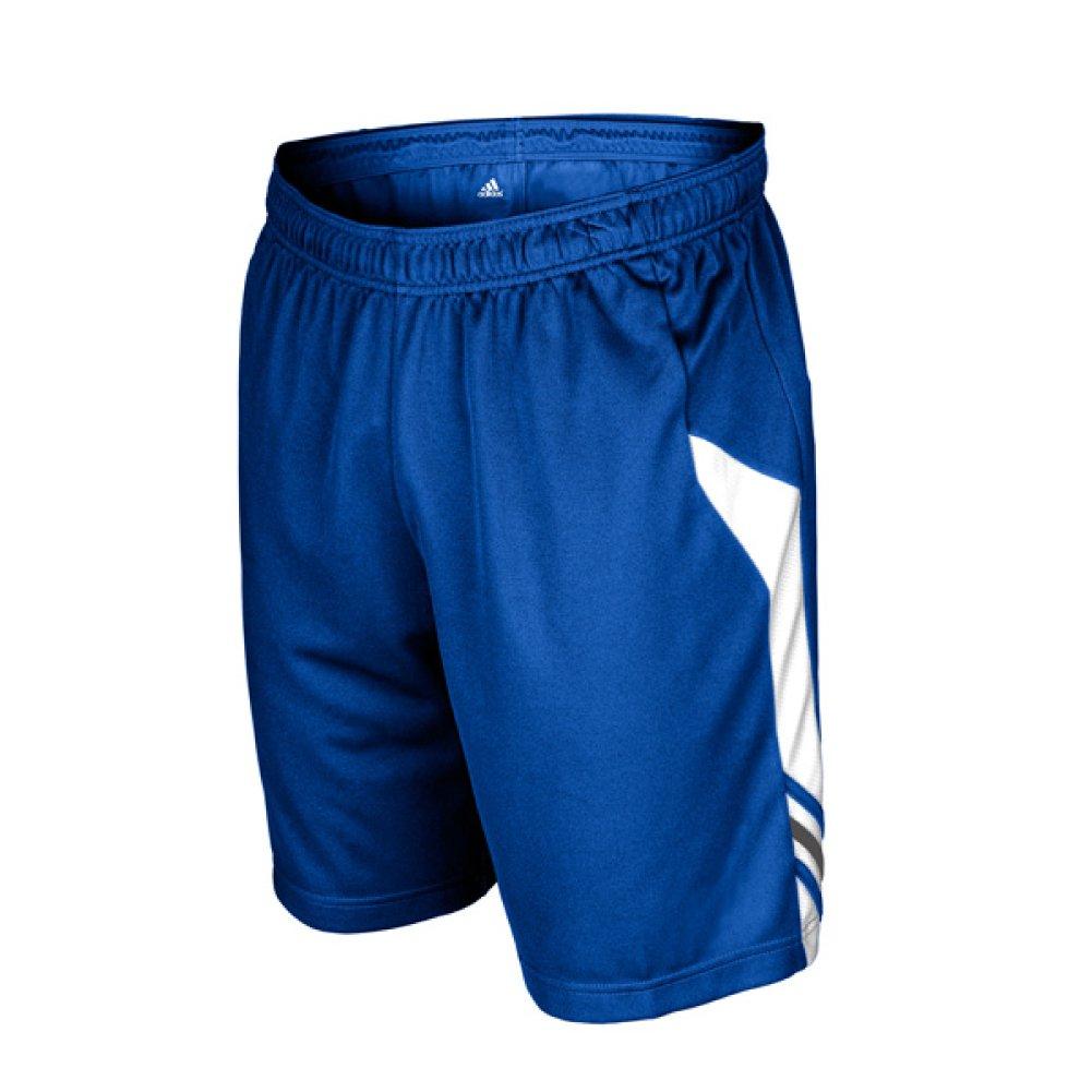 AdidasメンズClimaliteユーティリティSoccer Short B00GJWZDPA Small|ロイヤル-ホワイト ロイヤル-ホワイト Small