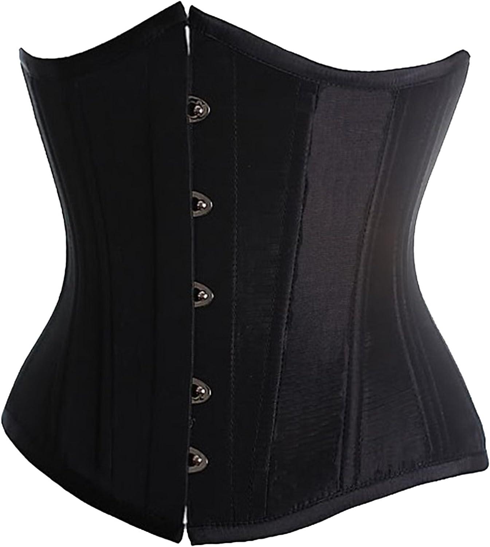 Alivila.Y Fashion Womens Sexy Satin Vintage Underbust Waist Training Corset Bustier