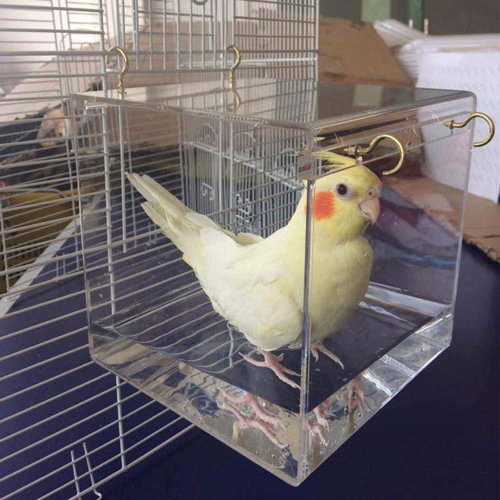 TRULIL Jaula para pájaros con Ganchos, de plástico, no tóxico ...