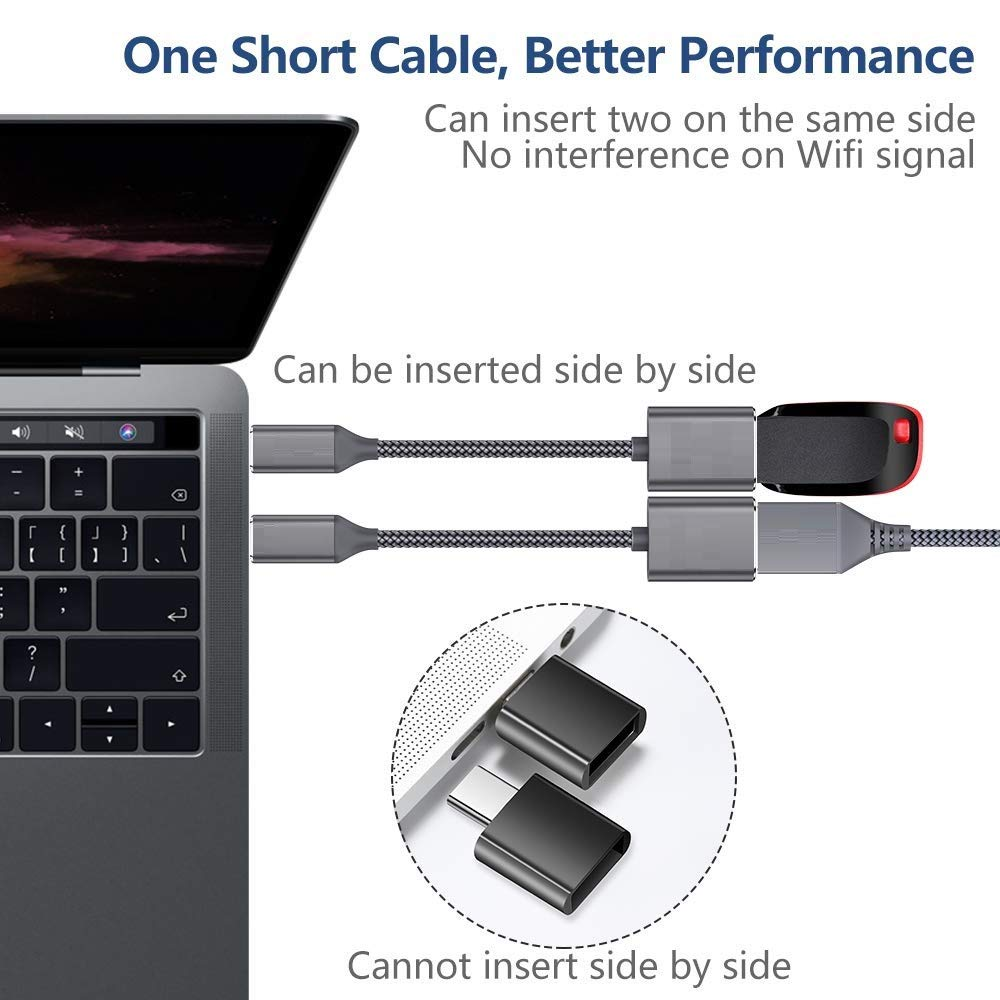 tables and Laptops Cinhent High Performance USB Type-C 3.1 to USB 3.0 OTG Cable Adapter Connector For Samsung A5 A8 S8 LG G6 Compatible with all USB-C Phones