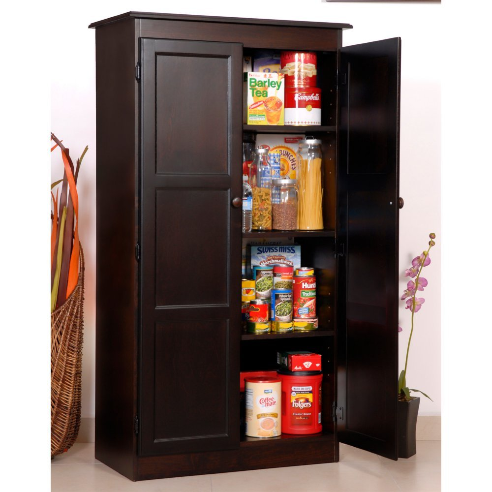 Amazon.com: Concepts In Wood Espresso KT613A Storage/Utility Closet: Home U0026  Kitchen
