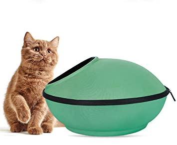 NKLD Accesorios para Mascotas: Cama para Mascotas: Forma cómoda y Transpirable de platillo Volante