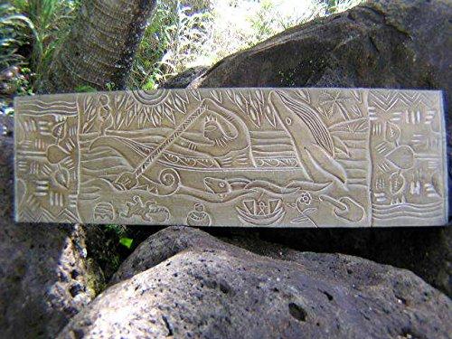 Aloha Tiki Sign - WOODEN RELIEF