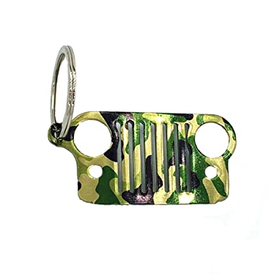 Jeep Grill Key Chain for Jeep Wrangler CJ,304 Stainless Steel (Camo): Automotive