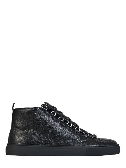 Balenciaga Hombre 458686WAY401000 Negro Cuero Zapatillas Altas: Amazon.es: Zapatos y complementos