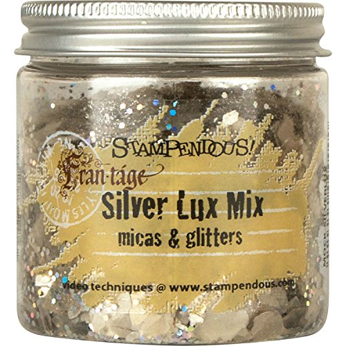 STAMPENDOUS FRL01 Lux Mica and Glitter Mix, Silver
