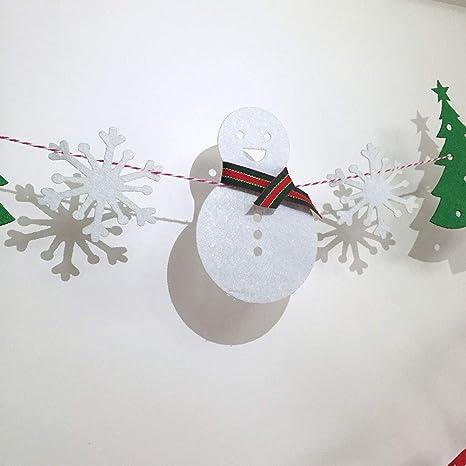 BESTOYARD Striscione Lettere in Carta Merry Christmas per Decorazione Natale