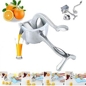 Manual Fruit Citrus Press Juicer Manual Heavy Duty Single Press Aluminium Lemon Squeezer 1pack