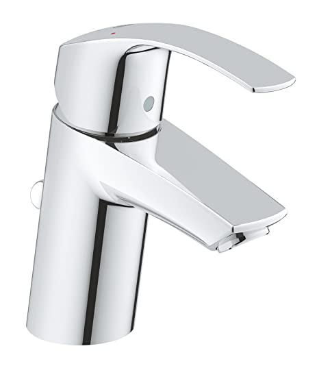 GROHE Eurosmart single-lever basin tap with pop-up waste, plug, one ...