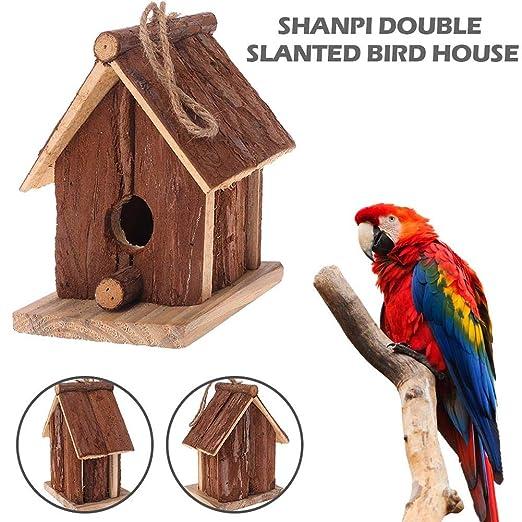 Ganmek Casa De Pájaros De Madera Casa De Aves Artesanales