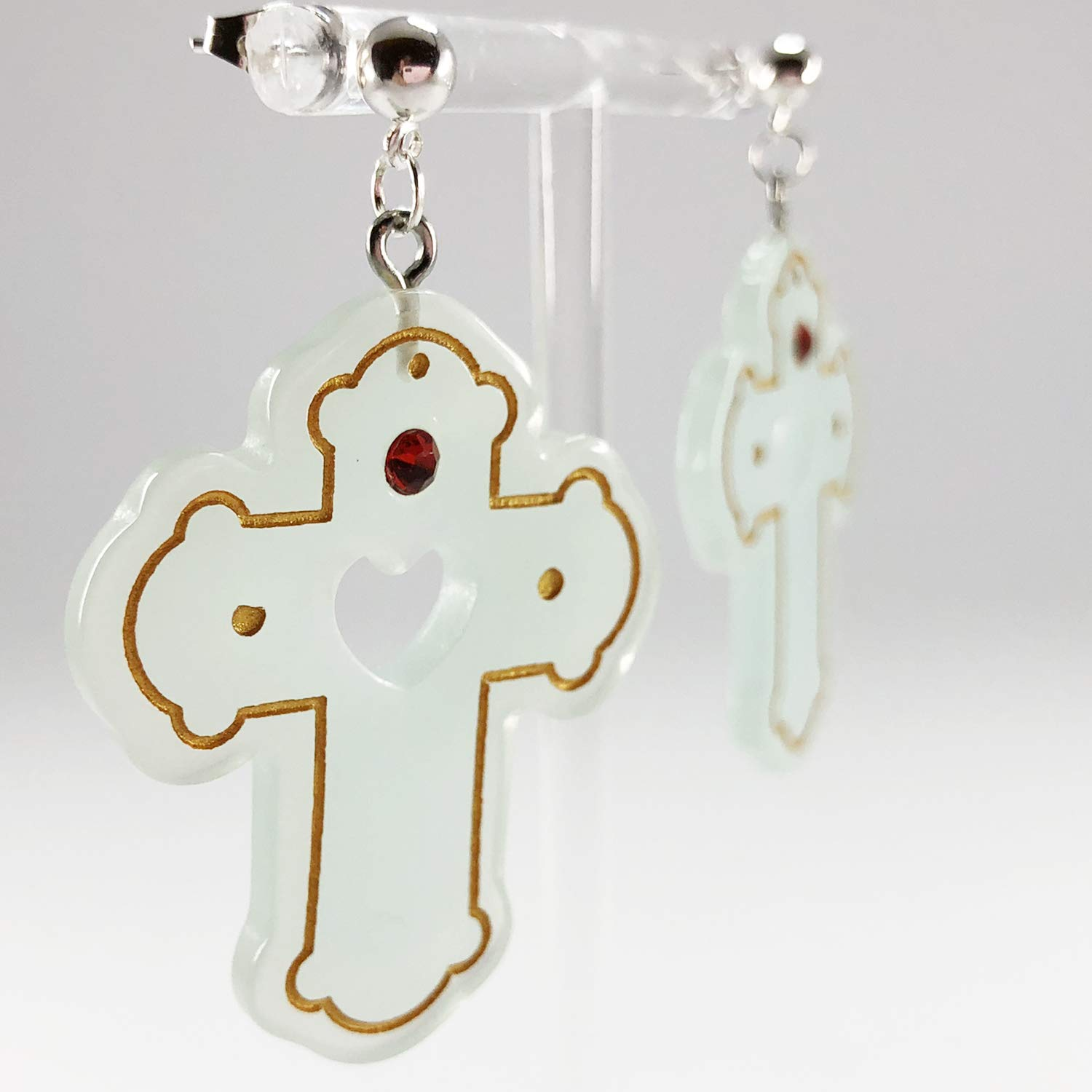 CUTIFICIAL Cross Dangle Earrings For Women and Girls Clip-on Exchange Available