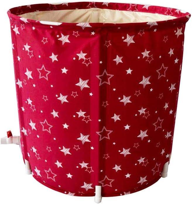 Espese el Barril plástico del baño del Cuerpo Plegable Redondo, bañera Inflable del Balneario del hogar (Color : Red, Size : 65 * 65cm): Amazon.es: Hogar