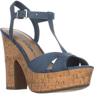 af5d6ab7845c American Rag Womens Jamie1 Fabric Open Toe Casual Platform