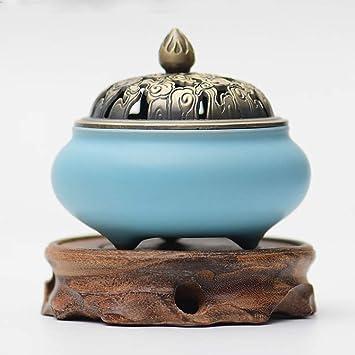 Quemador Color de cerámica Esmalte Horno de aromaterapia antiguo ...
