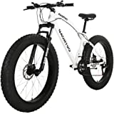 Outroad Mountain Bike 21 Speed Anti-Slip Bike 26 inch Fat Tire Sand Bike Double Disc Brake Suspension Fork Suspension…