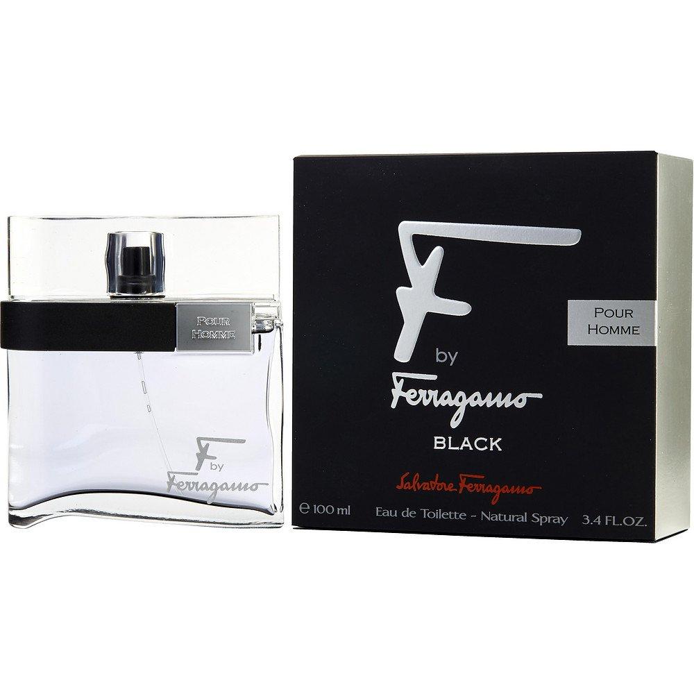 F BY FERRAGAMO POUR HOMME BLACK by Salvatore Ferragamo EDT SPRAY 3.4 OZ for MEN ---(Package Of 3)
