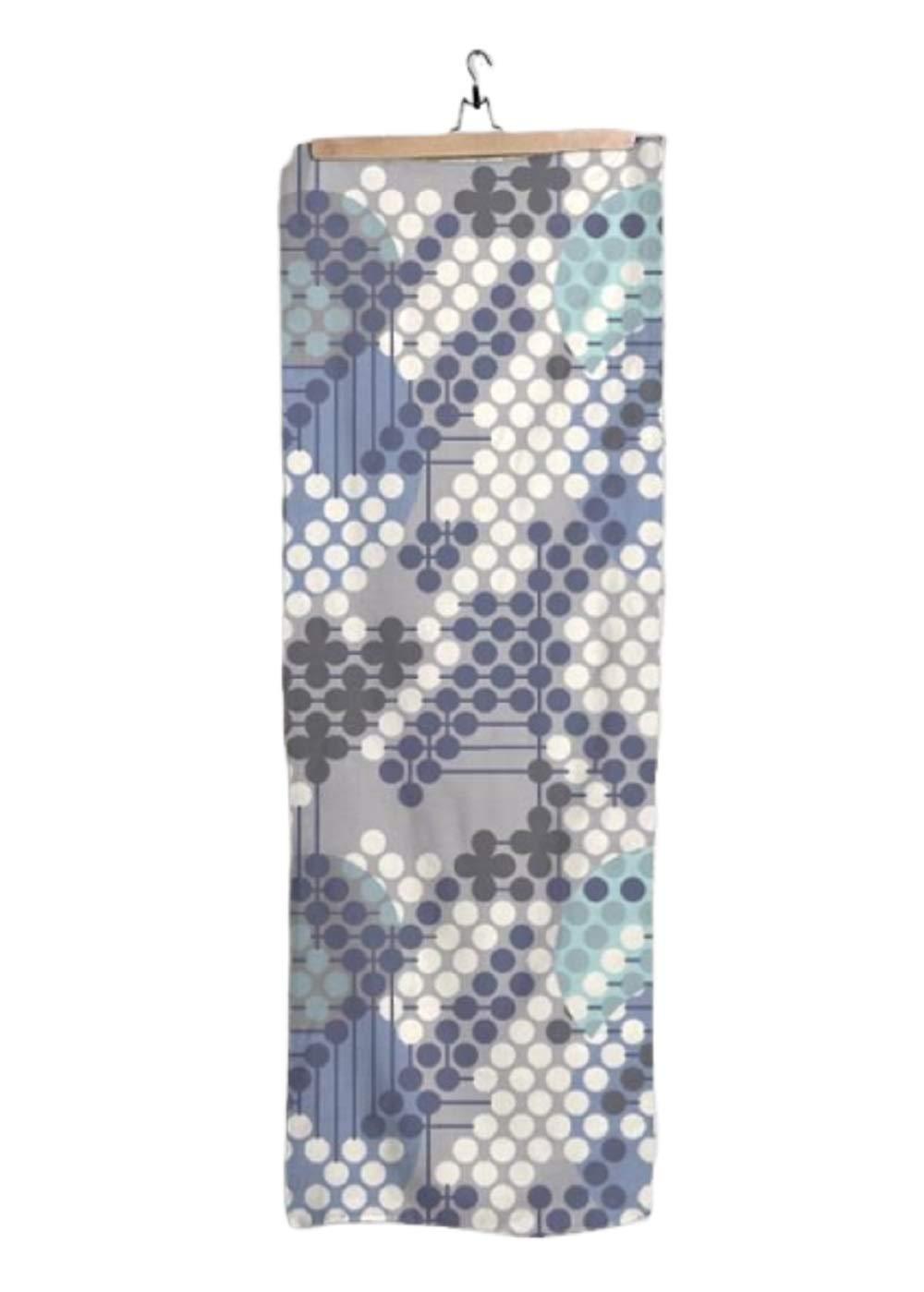 VIDA Indigo Modal Scarf (1955 Textile Design - 105)28'' × 78'' | Original Artwork by Frank Lloyd Wright by VIDA