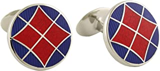 product image for David Donahue Sterling Silver Round Cufflinks