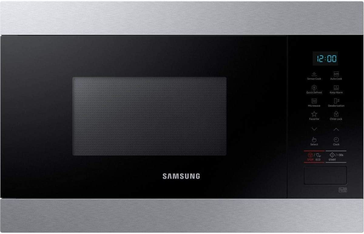 Samsung MS22M8074AT - Microondas encastrables (acero inoxidable, 22 L, 850 W)