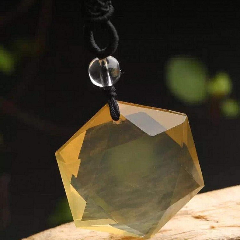 Collar Con Colgante Natural, Colgante De Cuarzo Citrino Amarillo Natural, 25 Mm, Piedras Preciosas, Cuentas Transparentes, Hexagrama, Collar De Seis Estrellas, Regalos
