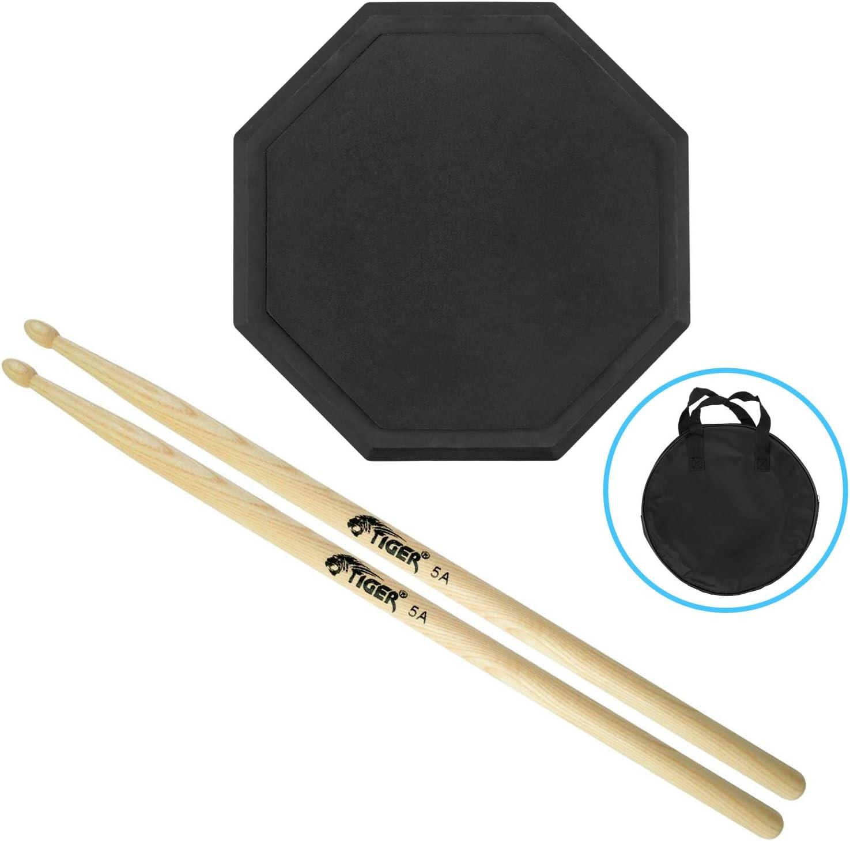 Tiger Almohadilla para practicar batería con baquetas: Amazon.es: Instrumentos musicales