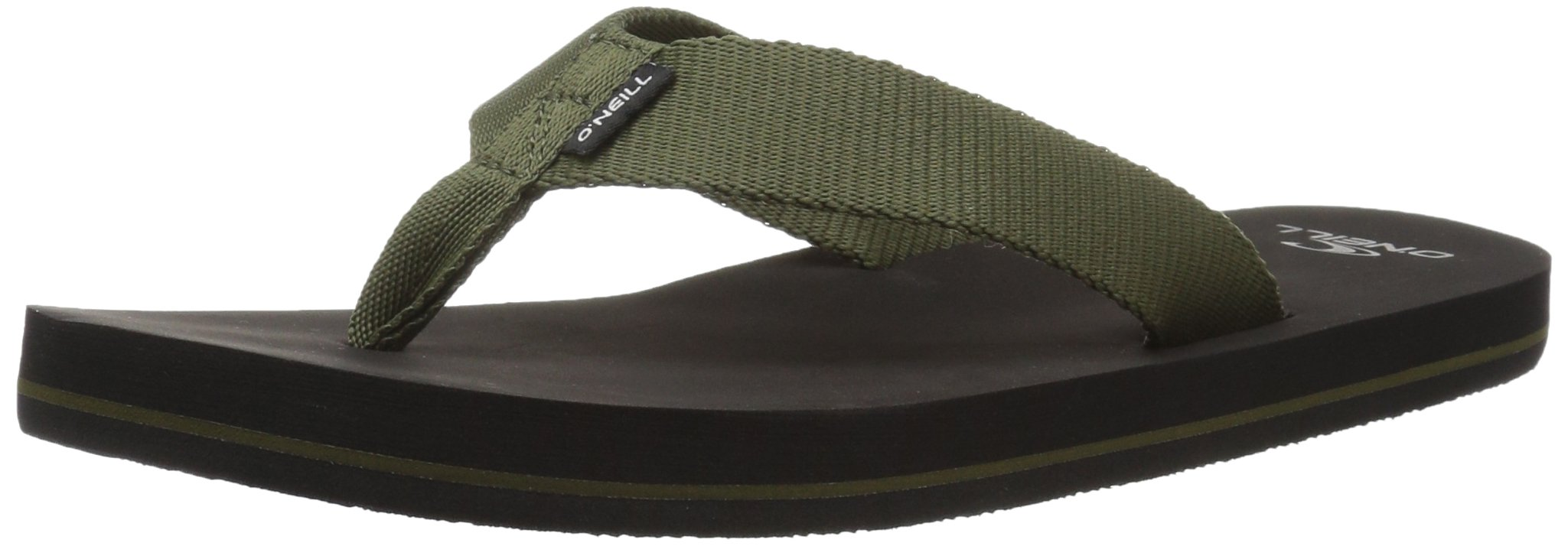 O'Neill Men's Bolsa Sandal Flip-Flop, Army, 13 Medium US