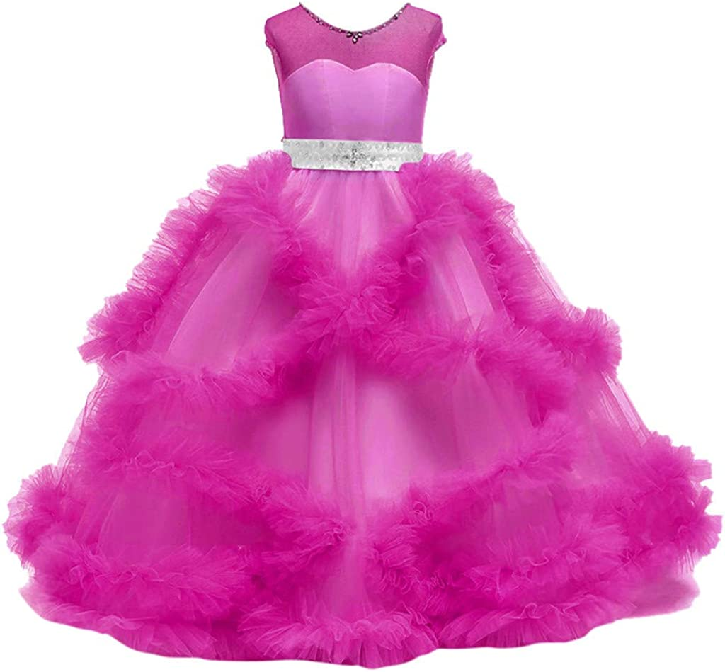 Long Sleeve Girl Dress Ruffle Stylish Baby Girl Dress Baby Girl Outfit Pink Dress for Baby Birthday Handmade Dress