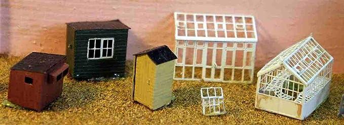 Langley Models invernaderos + cobertizos jardín escala N sin pintar Metal modelo Kit A49: Amazon.es: Juguetes y juegos