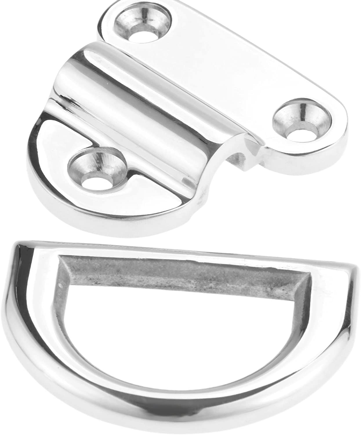 Stainless Steel 316 Folding Pad Eye D Ring Tie Down 2.83 x 2.71 x 2.44inch Marine Grade