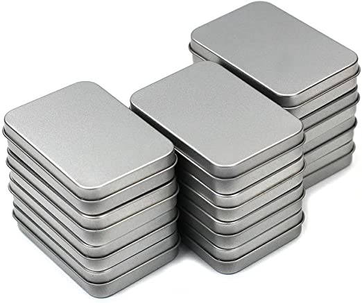 12 unidades, 3,75 por 2.54 por 0,8 pulgadas plata Metal ...