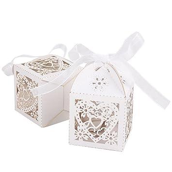 Benbilry 50 St/ück Gastgeschenk Hochzeit S/ü/ßigkeiten Schachtel Geschenkbox Kasten Hochzeit Party Dekoration Beige