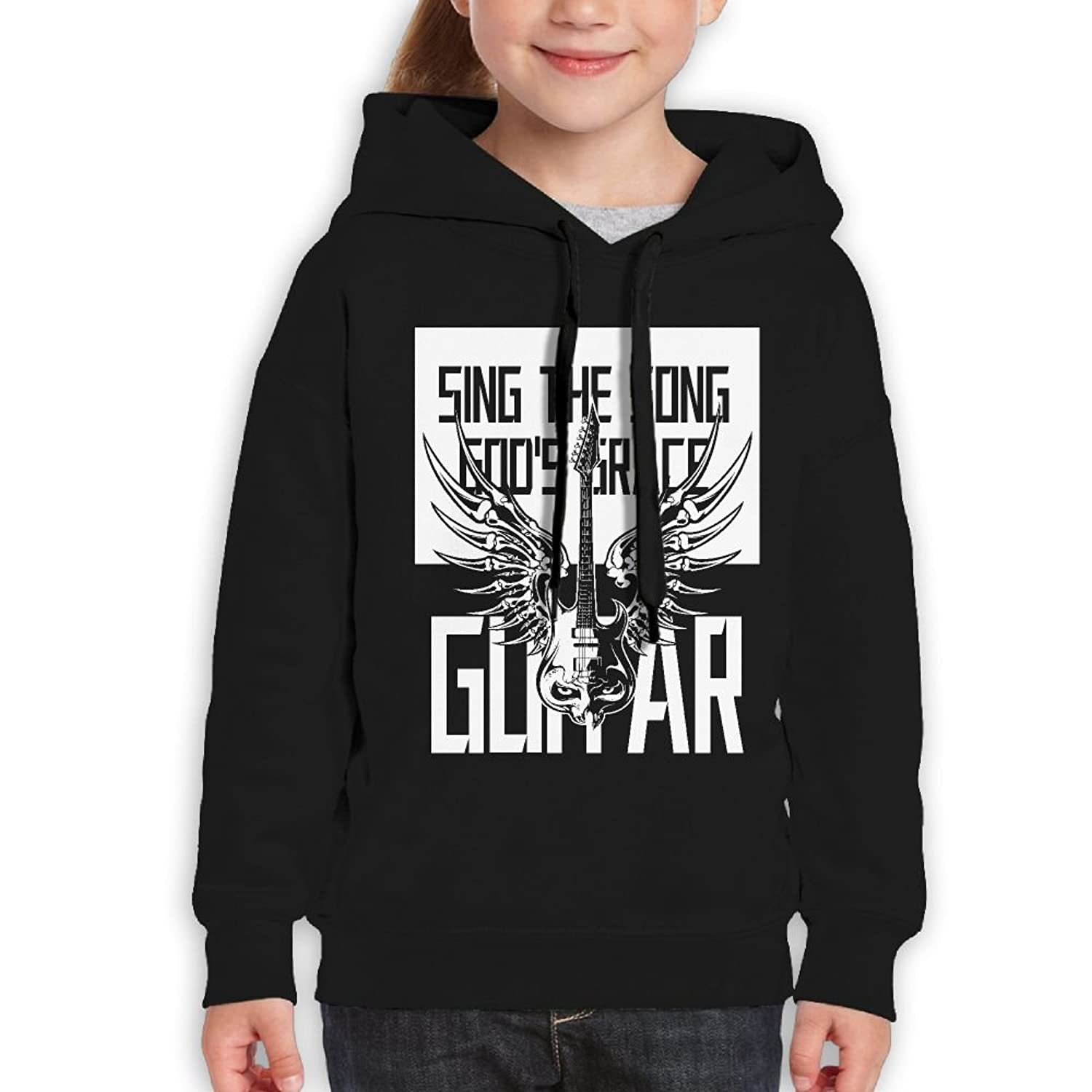 DTMN7 Amazing Guitar Sing The Song God's Grace Graphic Printed Cotton Top For Kids Unisex Spring Autumn Winter